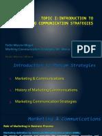 Intro to Marketing Communications
