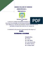 1 Thesis B.sc. Nursing PDF