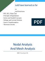 EEE Nodal and Mesh Analysis