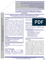 Antimicrobial Screening of Medicinal Plants Against Humanpathogens a Comparative Account of Two Different Methods Ofextraction