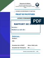 Page De Garde Rapport De Stage Fsjest Docx