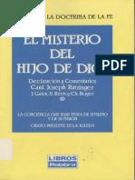 CDF Ratzinger El Misterio Del Hijo de Dios