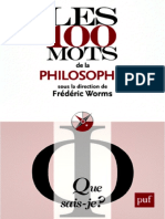 Worms Fr챕d챕ric (R챕dacteur).-Les 100 mots de la philosophie.pdf