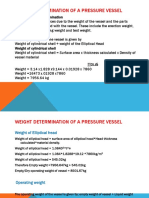 Pressure Vessel Weight Determination