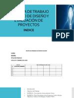 Esquema de Trabajo de Curso de Diseño y Evaluación de Proyectos