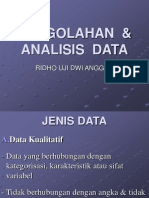 Pengolahan Analisis Data