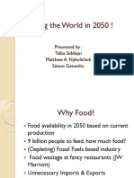 Feeding the World in 2050 !