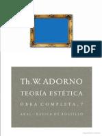 Adorno - Arte, sociedad, estética