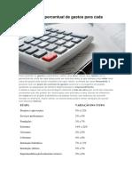 Tabela com o percentual de gastos para cada etapa da obra.pdf