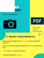 Videobroadcast Project Ppt