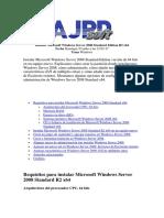 Instalacion de Windows Server