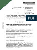 Proyecto de Ley que dispone medidas que fortalecen a Essalud mejorando la Seguridad Social en el Perú