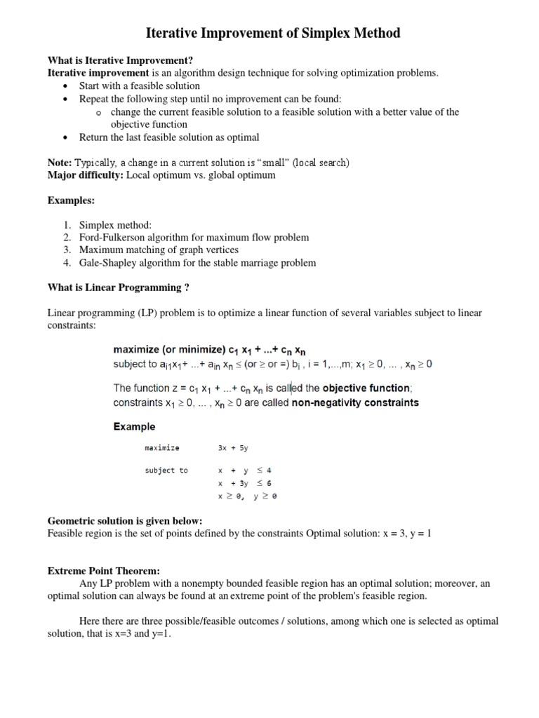 Simplex Method Ppt | Linear Programming | Mathematical