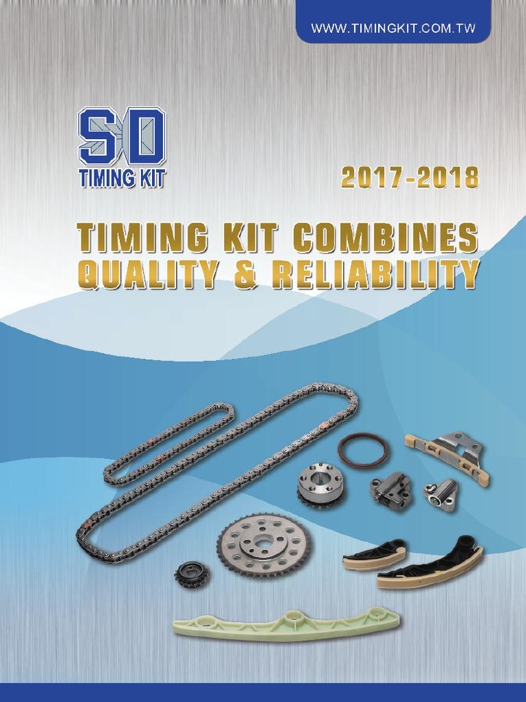 Timing Chain Kit Compatible With Ford F-250 F-150 F-350 Expedition Excursion E-150 E-250 E-350 Econoline Club Wagon 2002-2008 8 Cyl 5.4L