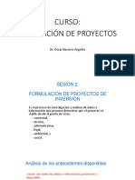 Sesion 2. Formulacion de Proyectos de Inversion
