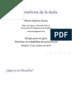 Mario Santos_los Beneficios de La Duda