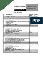 OWASP Mobile Checklist Final
