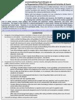 Summary- Accommodating Food Allergies at Parent-Teacher Association-Organization Sponsored Activities & Events