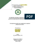 Modelo Portada y Presentacion Anteproyecto 2018
