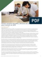 01-02-2019 Firman convenio Astudillo y directora de Conagua para inversión en 2019