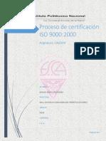 Proceso de Certificación ISO 9000-2000. Miguel Angel Cruz Ok