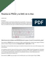 Resetea la PRAM y la SMC de tu Mac