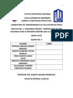 Practica 1 termodinamicas de las sustancias puras