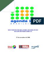 Agenda 21 Pernambuco Relatoria Debates