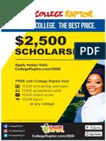 $2,500 Scholarship Poster