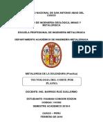 Corte Plasma Informe