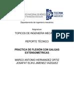 Reporte Técnico Extensometria