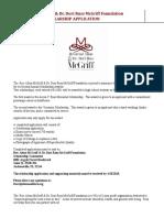 McGriff Foundation Scholarship Application