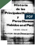 Zitor - Historia de las primeras huelgas y paros obreros habidos en el Perú, 1896-1946
