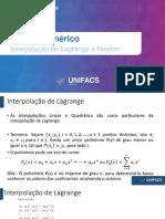 Aula 09 -Interpolação de Lagrange e Newton