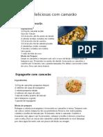 RECEITA 5 Receitas Deliciosas Com Camarão