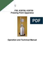 K29750 Freezing Pt Manual