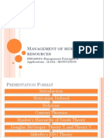 7MPA - Management of Human Resources -Motivation