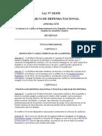 Ley Marco de Defensa Nacional