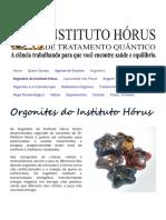 Orgonites e suas aplicações