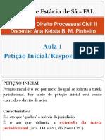 Direito Processual Civil II - Aula 1
