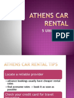 Athens Car Rental  - 5 Ultimate Tips