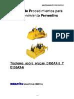 Manual de Procedimientos Tractores Sobre Orugas d155ax-5 y d155ax-6