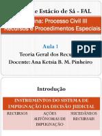 Direito Processual Civil III - Aula 1