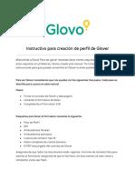 Creación de Perfil de Glover GTM