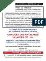 Conocer Los Catalanes de Antes de 1714 2edicic3b3n