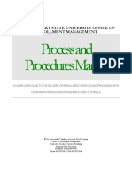 Management Process and Procedures Manual