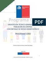 Orientacion Tecnica Programa CERO 2019