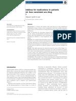 Doença Renal - Comparação de Fontes bibliográficas para o Ajuste de medicamentos - Khanal 2014