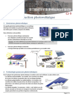 Synthese Production Photovoltaique
