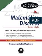 0 LIVRO Matemática Discreta - Coleção Schaum - LIPSCHUTZ, Seymour; LIPSON, Marc 3ª edição.pdf